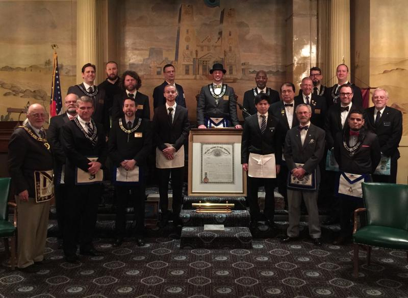 Two new Master Masons